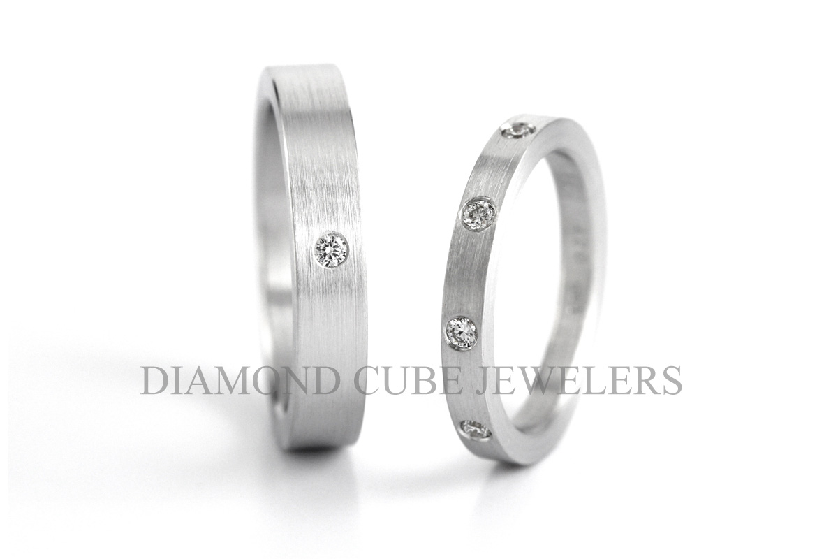 DIAMOND CUBE - Wedding Ring 結婚戒指 - 鑽石 - Pure Love - 221