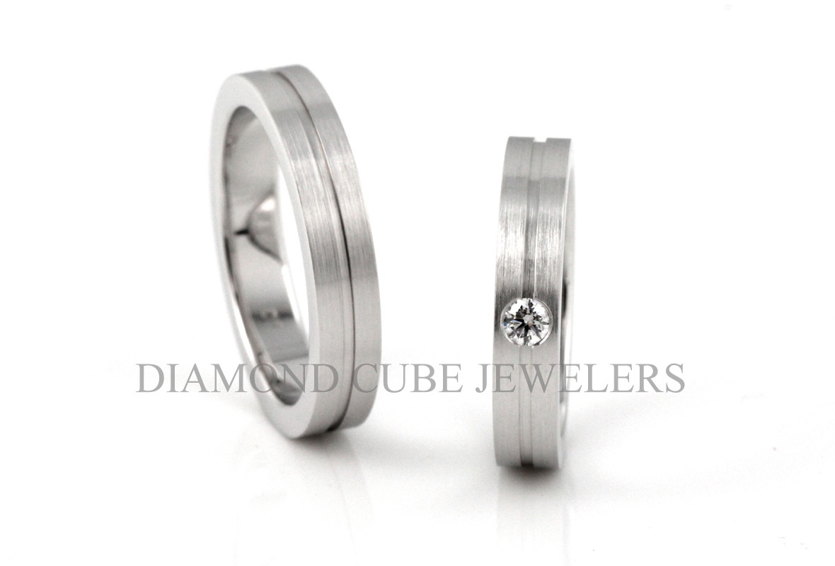 DIAMOND CUBE - Wedding Ring 結婚戒指 - 鑽石 - BeMine - 801