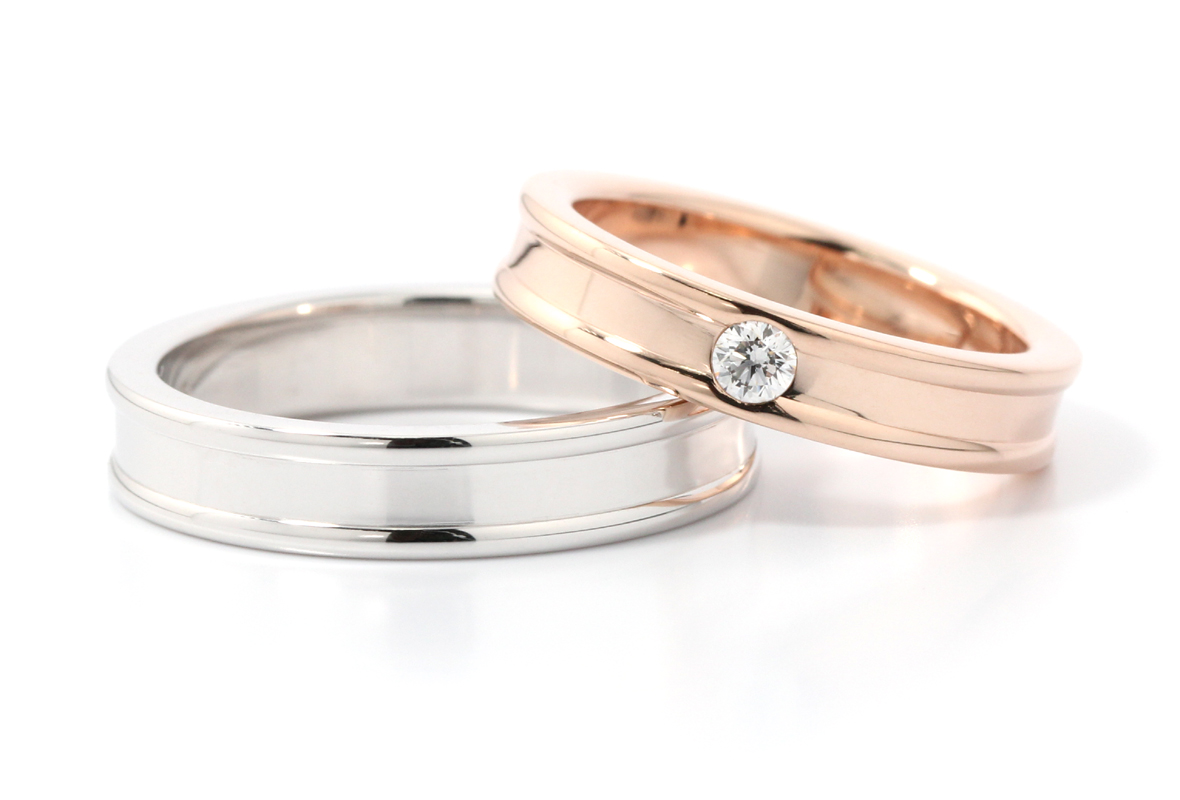 DIAMOND CUBE - Wedding Ring 結婚戒指 - 鑽石 - BeMine - 841