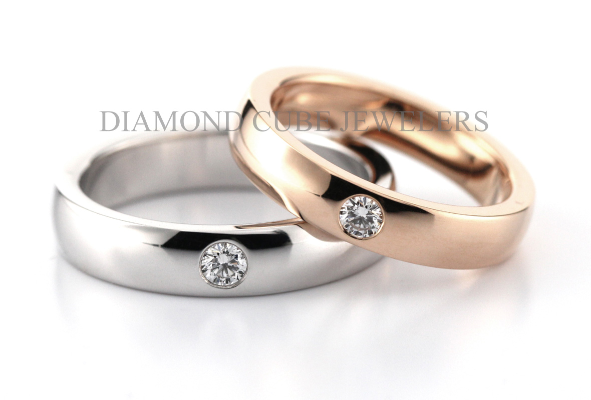 DIAMOND CUBE - Wedding Ring 結婚戒指 - 鑽石 - BeMine - 881